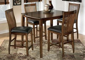 Stuman Counter Height Dining Table w/ 4 Chairs