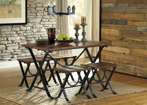 Freimore Rectangular Dining Table w/ 4 Stools,ABF Signature Design by Ashley