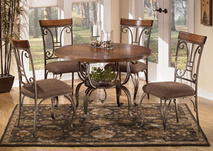 Plentywood Round Dining Table & 4 Side Chairs,ABF Signature Design by Ashley