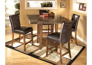 Lacey Square Counter Table & 4 Stools,Signature Design by Ashley