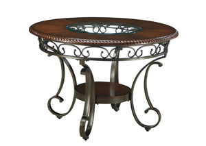 Glambrey Round Dining Table,Signature Design by Ashley