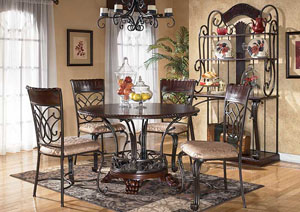 Alyssa Dining Table w/ 4 Side Chairs