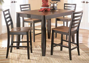 Alonzo Counter Height 5-Piece Pub Set