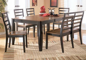 Alonzo Rectangular Table w/ 6 Chairs,Signature Design by Ashley