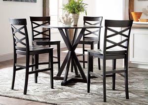 Berlmine Round Counter Table w/ 4 Stools,Signature Design by Ashley