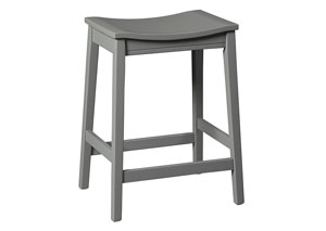 Bantilly Gray Stool (Set of 2)