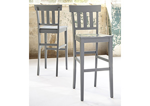 Bantilly Gray Tall Barstool (Set of 2)