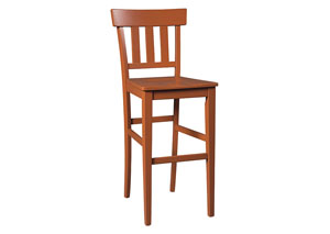 Bantilly Red Tall Barstool (Set of 2)