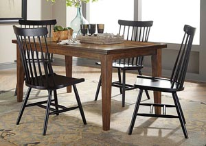 Molanna Rectangular Dining Table w/ 4 Side Chairs