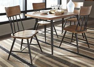 Jorwyn Rectangular Dining Room Table w/ 4 Side Chairs