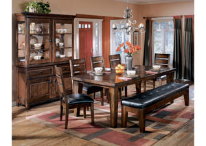 Larchmont Rectangular Extension Table & 4 Side Chairs,Signature Design by Ashley