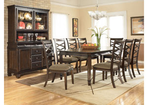 Hayley Rectangular Table w/ 8 Chairs