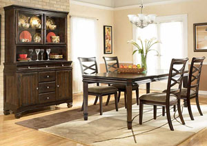 Hayley Dining Table W/ 6 Chairs,Ashley