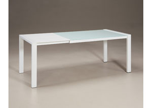 Martina Rectangular Glass Extension Table
