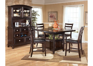 Ridgley Square Counter Extension Table & 4 Stools,Signature Design by Ashley