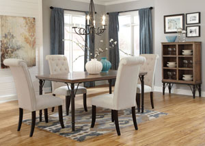 Tripton Rectangular Dining Table w/ 4 Side Chairs,ABF Signature Design by Ashley