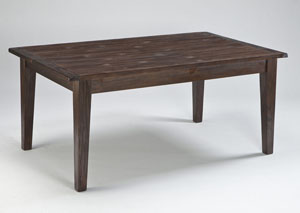 Mestler Dark Brown Rectangular Dining Table,Signature Design by Ashley