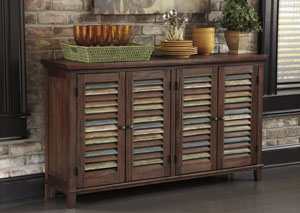 Mestler Dark Brown Server,Signature Design by Ashley
