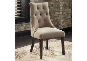 Mestler Light Brown Upholstered Side Chair (Set of 2)