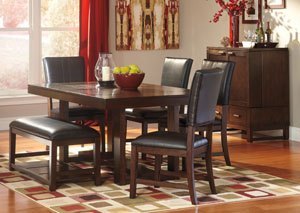 Watson Rectangular Dining Table w/ 4 Side Chairs & Bench