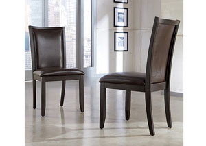 Trishelle Brown Upholstered Side Chair (Set of 2)