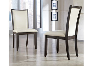 Trishelle Cream Upholstered Side Chair (Set of 2)