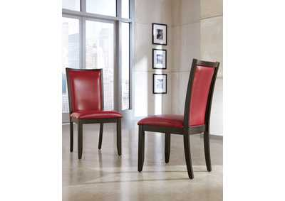 Trishelle Red Upholstered Side Chair (Set of 2)
