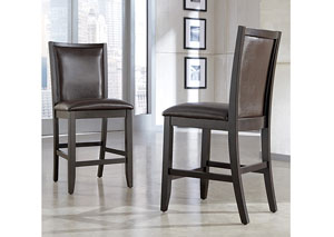Trishelle Brown Upholstered Barstool (Set of 2)
