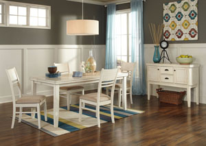 Arrowtown Rectangular Dining Table w/ 4 Chairs
