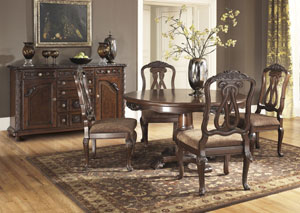 North Shore Round Pedestal Table w/ 4 Side Chairs,Millennium