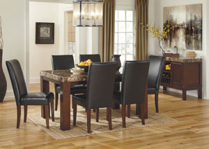 Kraleene Rectangular Dining Table w/ 6 Chairs