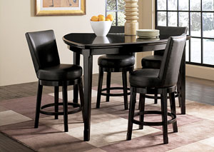 Emory Triangle Counter Table & 4 Stools