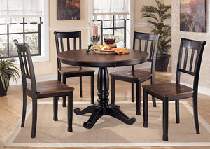 Owingsville Round Table w/ 4 Side Chairs