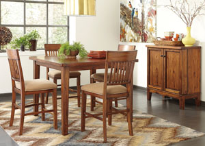 Shallibay Square Counter Table w/ 4 Stools