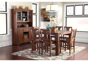 Chimerin Counter Height Extension Table w/ 6 Barstools