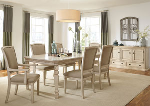 Demarlos Extension Dining Table w/ 4 Side Chairs, 2 Arm Chairs & Server,Signature Design by Ashley