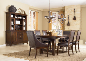 Holloway Rectangular Extension Table w/ 4 Side Chairs & 2 Arm Chairs,Signature Design by Ashley