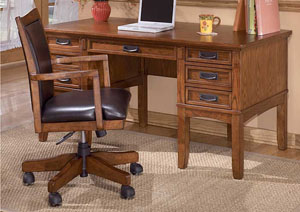 Cross Island Leg Desk w/ Storage,Signature Design by Ashley
