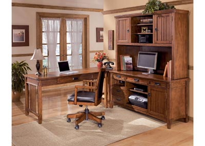 Cross Island 4-Piece L-Shape Desk ,Signature Design by Ashley