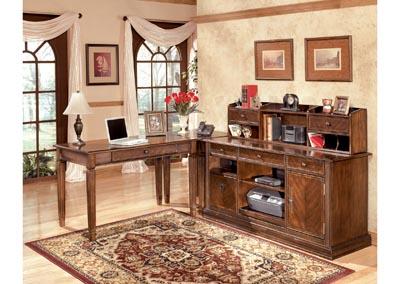 Hamlyn L-Shaped Desk w/ Hutch & Credenza,Signature Design by Ashley