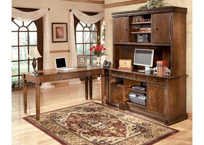 Hamlyn Large L-Shaped Desk w/ Large Hutch & Credenza