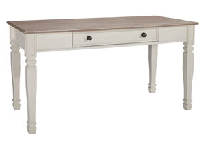 Sarvanny Two-tone Home Office Large Leg Desk,Signature Design by Ashley