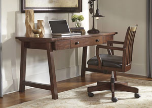 Wassner Dark Brown Home Office Large Leg Desk w/ Swivel Desk Chair,Signature Design by Ashley