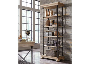 Shennifin Light Brown Large Bookcase