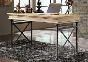 Shennifin Light Brown Home Office Large Leg Desk