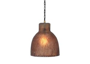 Edalene Brown Glass Pendant Light