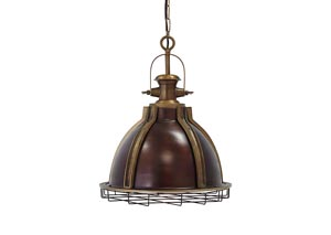 Fanchon Antique Brass Finish Metal Pendant Light
