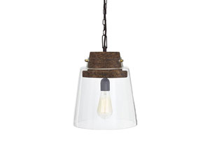 Hakeem Clear/Brown Glass Pendant Light