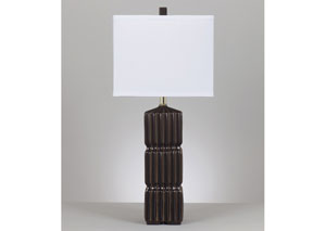 Ranissa Dark Brown Ceramic Table Lamp (Set of 2)