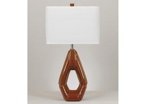 Rumiko Burnt Orange Ceramic Table Lamp (Set of 2)